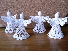 CZ - Crochet patterns - angels, bells etc. My mom used to make these and give to people as gifts.