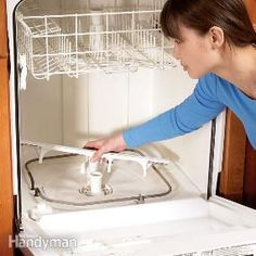 Dishwasher Repair Tips:  Great post shows how to clean & maintain your dishwasher. This is an easy DIY that can save lots of money by not having to call a repair man!
