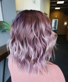 Justin Tai Kieu purple chocolate - All For Hair Color Trending Grey Hair Wig, Lace Hair, Purple Hair, Beautiful Hair Color, Cool Hair Color, Hair Colour, Wig Hairstyles, Pretty Hairstyles, Color Fantasia