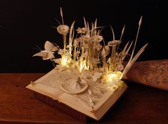 Thumbelina book sculpture and light by AnemyaPhotoCreations.deviantart.com on @deviantART