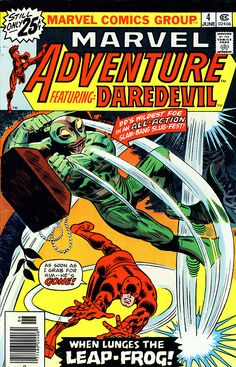 Marvel Adventure featuring Daredevil #4, june 1976, cover by Gene Colan and Frank Giacoia.