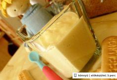 Kekszes-almás túrókrém babáknak Baby Food Recipes, Kids Meals, Glass Of Milk, Ale, Dairy, Ice Cream, Pudding, Sweets, Cheese