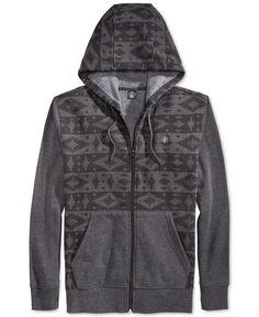 Volcom Justa Slapdit-Print Fleece Hoodie Urban Fashion, Mens Fashion, Sweatshirts, Hoodies, Fleece Hoodie, Nike Jacket, Jackets, Shopping, Products