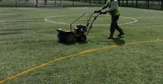 Decompacting Filled Synthetic Pitches in Creamore Bank...