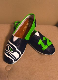 Hey, I found this really awesome Etsy listing at https://www.etsy.com/listing/176436779/womens-seahawks-toms-shoes