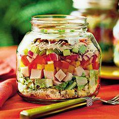 35 Quick & Delicious Summer Salads - layered Cornbread and Turkey Salad