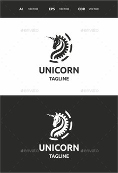Unicorn by naqqosh This logo design for all creative business. Logo Template Features AI and EPS CMYK 100 Scalable Vector Files Easy to edit colo Logo Design Template, Logo Templates, Logo Branding, Branding Design, Fantasy Logo, Unicorn Logo, Unicorn Wedding, Logos Ideas, Wings Logo