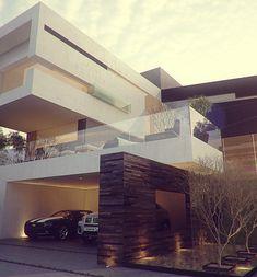 proyectos | 21arquitectos Dream House Exterior, Dream House Plans, Design Your Dream House, Modern House Design, Minimalist Architecture, Amazing Architecture, Facade Design, Exterior Design, Residential Architecture