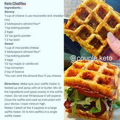 Chaffle sandwiches buns or sweet waffles. Keto Friendly/low-fat Chaffle sandwiches buns or sweet waffles. Keto Friendly Desserts, Low Carb Desserts, Low Carb Recipes, Low Carb Bread, Low Carb Keto, Keto Bread, Churros, Cheddar, Keto Waffle