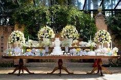 Resultado de imagem para casamento decoração em um campo