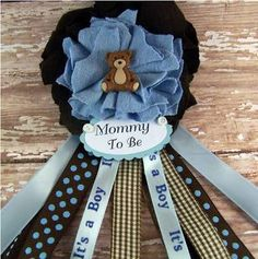 Baby shower for boy blue and brown Distintivos Baby Shower, Mesas Para Baby Shower, Teddy Bear Baby Shower, Boy Baby Shower Themes, Baby Shower Cakes, Picnic Baby Showers, Baby Shower Parties, Shower Party, Bear Theme