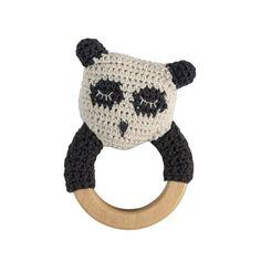 Sebra hæklet rangle, panda