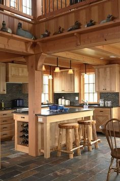 1000 images about kitchen island on pinterest support - Kitchen island with post ...
