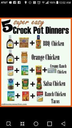 5 super easy crock pot dinners