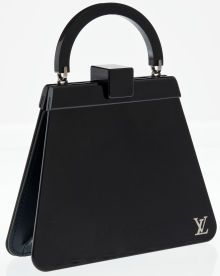 Heritage Vintage: Louis Vuitton Special Edition Navy Blue  Lucite and Leather Runway Bag
