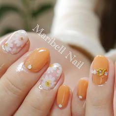 ジューシーなオレンジネイル!大人かわいいオレンジネイルデザイン画像100枚 | Jocee