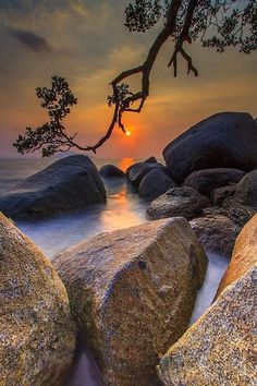 sunrise -sunset view of nature Foto Nature, Image Nature, Beautiful Sunset, Beautiful World, Beautiful Images, Nature Pictures, Cool Pictures, Pictures Images, Landscape Photography
