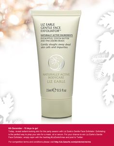 For a chance to win our Liz Earle Gentle Face Exfoliator, repin and post to Twitter with #LizEarleXmas on 6th December. Acting Masks, Exfoliate Face, Flaky Skin, Organic Aloe Vera, Work From Home Tips, Makeup Rooms, Modern Hairstyles, White Clay, Active Ingredient