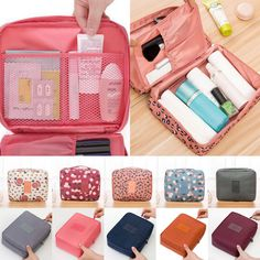 New Cosmetic Bag Makeup Case Travel Wash Beauty Toiletry Organizer Storage Pouch Toiletry Storage, Cosmetic Storage, Travel Cosmetic Bags, Cosmetic Case, Toiletry Bag, Bag Storage, Makeup Travel Case, Makeup Case, Large Makeup Bag