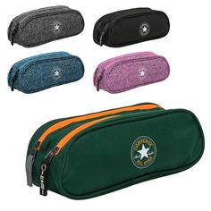Pencil case by Converse Two separate zip pockets Converse logo on front Great material and workmanship Brand: Converse Model: Double Pencil Case S