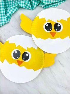 Easter Arts And Crafts, Diy Crafts For Kids Easy, Paper Plate Crafts For Kids, Spring Crafts For Kids, Toddler Crafts, Farm Animal Crafts, Animal Crafts For Kids, Preschool Crafts, Free Printable