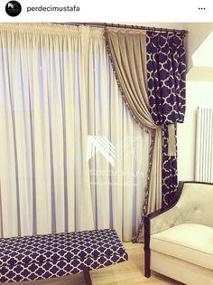 #perdecimustafa #Tarzımızdan #cizgimizden #Küçükbirgörüntü @perdecimustafa #perdetasarım #Duvarkagıdı #Döşemelikkumaş #perdeihtiyacıolanheryerdeyiz Small Window Curtains, Curtains With Blinds, Drapes Curtains, Valances, Living Room Sofa Design, Living Room Art, Living Room Designs, Curtain Inspiration, Curtain Designs