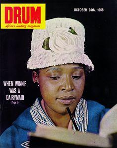 Apartheid Exposed in Drum Magazine - October 1965 Ebony Magazine Cover, Black Magazine, Magazine Covers, Drum Magazine, Life Magazine, African Life, African History, Jim Bailey, Winnie Mandela