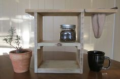 Pour Over Coffee Stand Coffee Organizer Drip от forestlinedesigns
