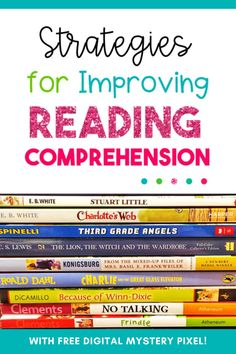Looking for strategies to improve reading comprehension?! I have 4 different strategies, including an activity bundle, I'm so excited to tell you about that will help improve reading comprehension! #reading #comprehension #skills #languagearts