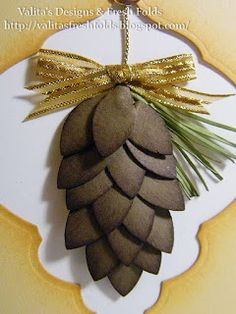 Valita's Designs & Fresh Folds: Christmas punch pine cones