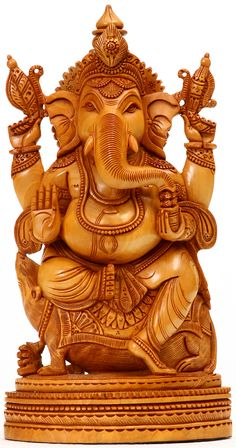 Lord Ganesha Seated Granting Abahya