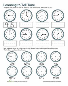 Worksheets: Time Practice