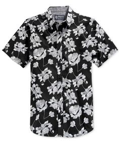 American Rag Danziger Popover Floral-Print Short-Sleeve Shirt, Only at Macy's