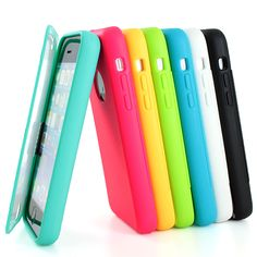 For Apple iPhone 5c Colorful TPU Wrap Up Case Cover w Built in Screen Protector | eBay