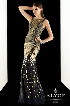 Evening Dresses<BR>Prom Dresses by CLAUDINE for Alyce<BR>2392<BR>Make Your Fashion Statement!