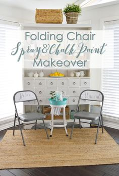 Folding Chair Spray Paint Makeover. A Cheap Way To Add Vintage Charm!