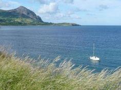View from top field, Caernarfon, Gwynedd,