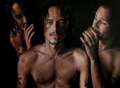 Pintura: Retrato de Heath Ledger, pintado por Vincent Fantauzzo