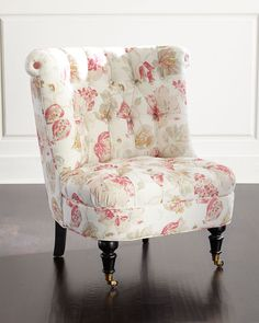 Dusty Rose Tufted Chair, Blush - Neiman Marcus