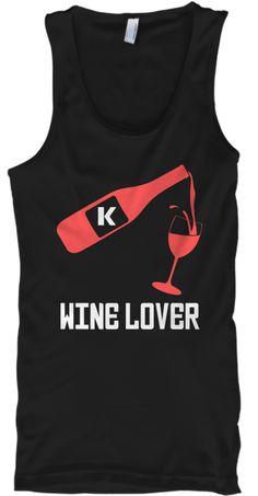 Wine Lover Black Tank Top Front