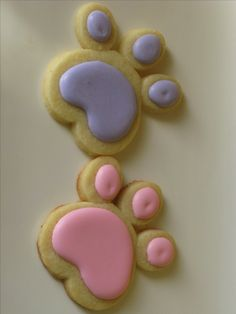 Pink Panther Paw Cookies