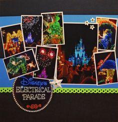Disney's Electrical Parade Disney scrapbook main street electrical parade layout