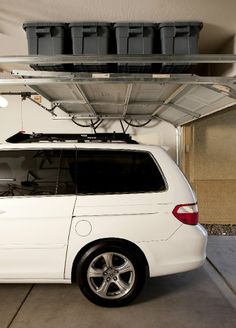 Marvelous Tall Ceiling Storage Loft | Garage Overhead Storage | Ideas For The House |  Pinterest | Storage Ideas, Shelves And Overhead Storage