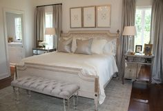I purchased this beautiful Amy Howard Keats bed from the National Cancer Society Showhouse.  I viewed the showhouse on line and had to have this bed for our master bedroom.  Thank goodness it was still available.  They were so wonderful to work with and a great cause too.