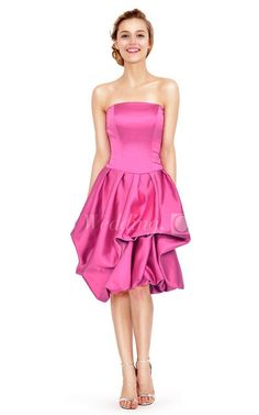 Strapless A-line Knee-length Dress With Ruffles