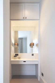 How to turn an alcove into a fitted dressing table