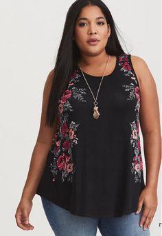 94fea57457abc NWT Torrid black floral slim fit tank women s plus size 2 (18 20)
