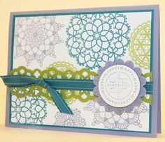 Delicate Doilies Birthday Card by eschader - Cards and Paper Crafts at Splitcoaststampers