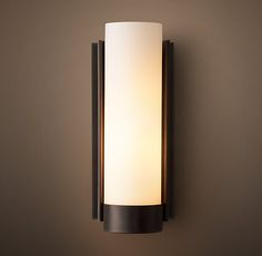 """Powell Sconce - This oil rubbed bronze finish would work with the Pottery Barn Square mirror - 4"""" x4"""" 12""""H $179"""