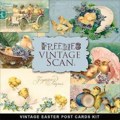 Vintage Post Cards @ http://farfarhill.blogspot.com/2012/02/freebies-easter-post-cards.html